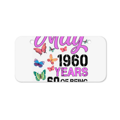 Made In May 1960 Years 60 Of Being Awesome For Light Bicycle License Plate Designed By Sengul