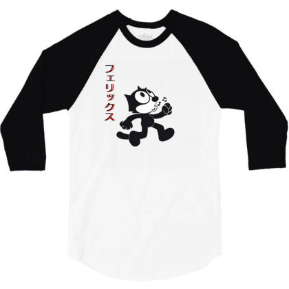Felix The Cat Aesthetic Japan 3/4 Sleeve Shirt Designed By 90stings
