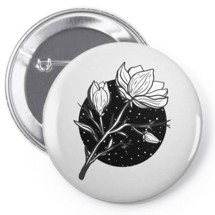 Midnight Magnolias Pin-back Button Designed By 90stings