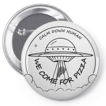 We Come For The Pizza Pin-back Button Designed By 90stings