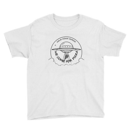 We Come For The Pizza Youth Tee Designed By 90stings