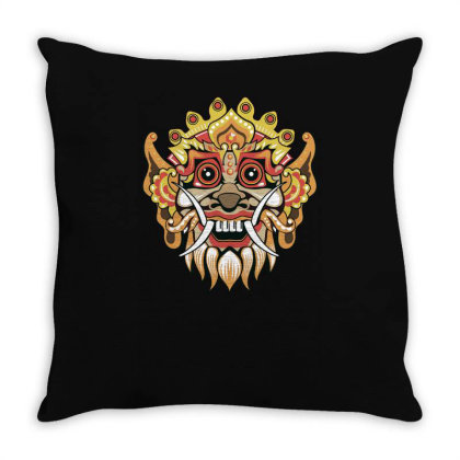 Barong Throw Pillow Designed By Anis4