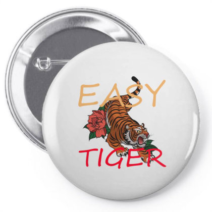 Easy Tiger Pin-back Button Designed By 90stings