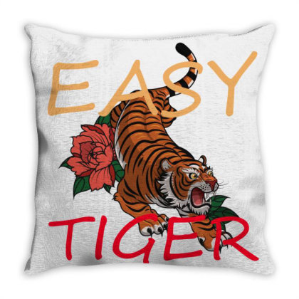Easy Tiger Throw Pillow Designed By 90stings