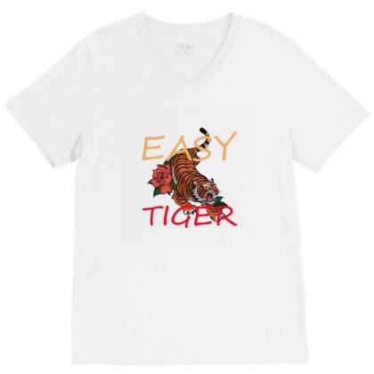 Easy Tiger V-neck Tee Designed By 90stings