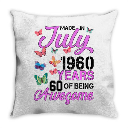 Made In July 1960 Years 60 Of Being Awesome For Light Throw Pillow Designed By Sengul