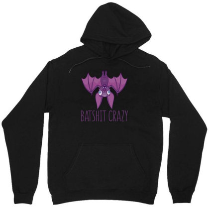 Batshit Crazy Wacky Cartoon Bat Unisex Hoodie Designed By Anis4