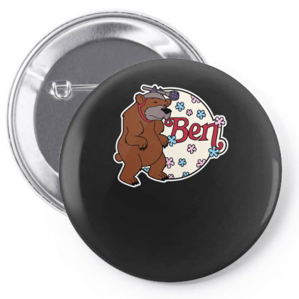 Bear With Microphone Pin-back Button Designed By Anis4