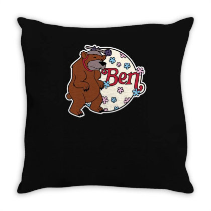 Bear With Microphone Throw Pillow Designed By Anis4