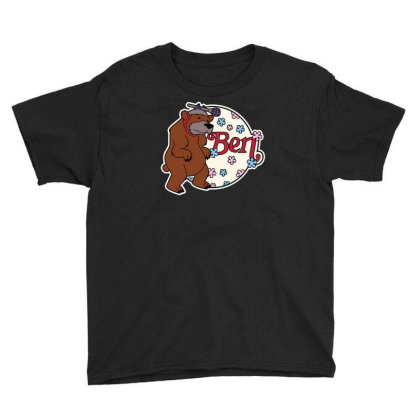Bear With Microphone Youth Tee Designed By Anis4