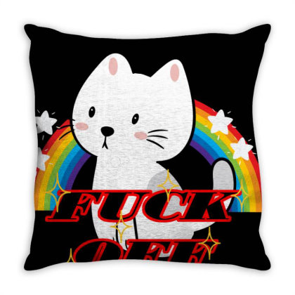 Fuck Off Throw Pillow Designed By 90stings