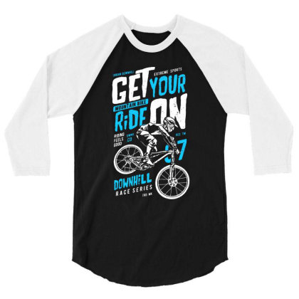 Bike Rider Biker 3/4 Sleeve Shirt Designed By Designisfun