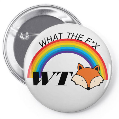 What The Fox Pin-back Button Designed By 90stings