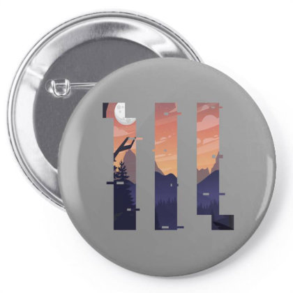 Sunset Geometric Pin-back Button Designed By 90stings