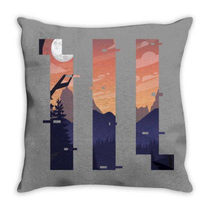 Sunset Geometric Throw Pillow Designed By 90stings