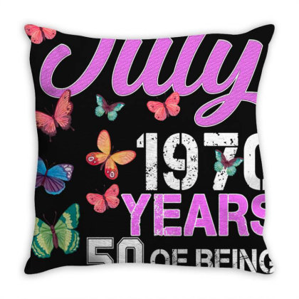 Made In July 1970 Years 50 Of Being Awesome For Dark Throw Pillow Designed By Sengul