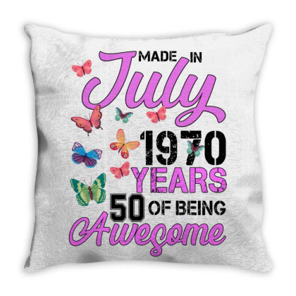 Made In July 1970 Years 50 Of Being Awesome For Light Throw Pillow Designed By Sengul