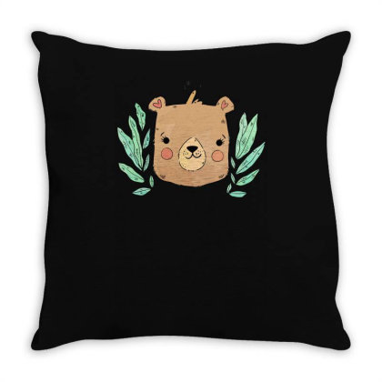 Bear Throw Pillow Designed By Anis4
