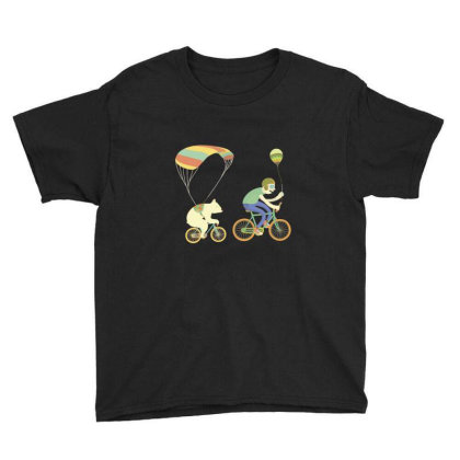Bearcycle Youth Tee Designed By Anis4
