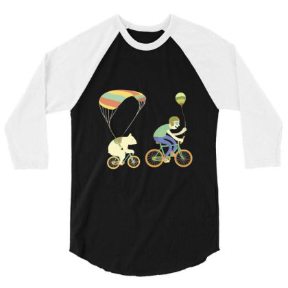 Bearcycle 3/4 Sleeve Shirt Designed By Anis4