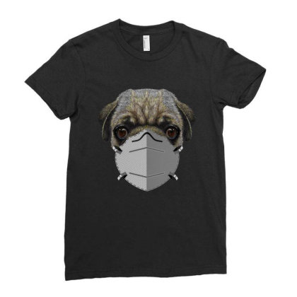 Paramedic Pug Dog Ladies Fitted T-shirt Designed By Gurkan