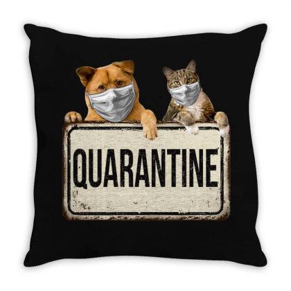 Quarantine Animals Throw Pillow Designed By Gurkan