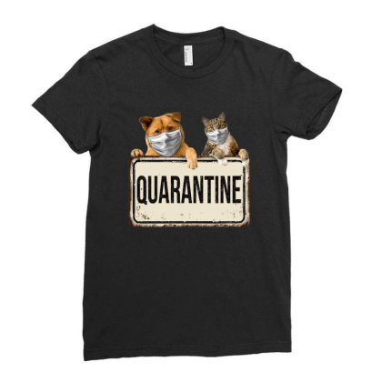 Quarantine Animals Ladies Fitted T-shirt Designed By Gurkan