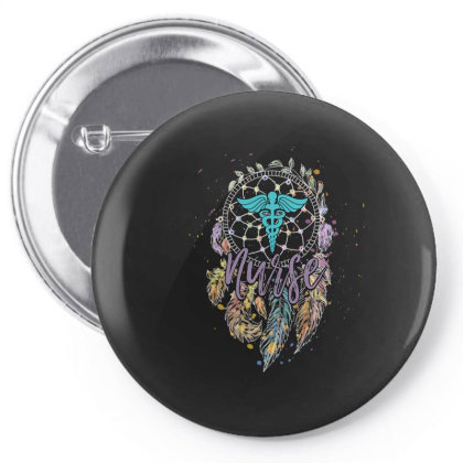 Dreamcatcher And Nurse Pin-back Button Designed By Gurkan