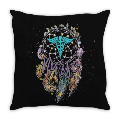 Dreamcatcher And Nurse Throw Pillow Designed By Gurkan