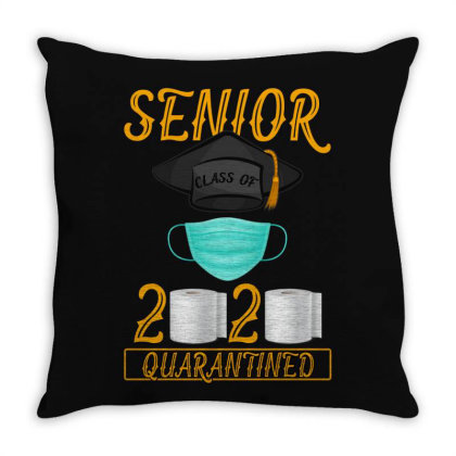 Senior Class Of 2020 Quarantined Throw Pillow Designed By Gurkan
