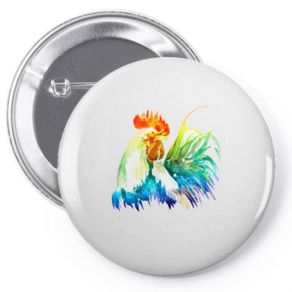 Rooster Lgbt Pin-back Button Designed By Gurkan