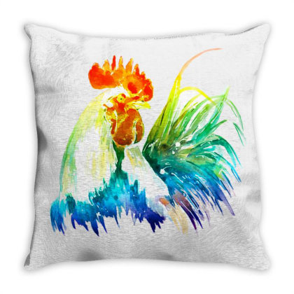 Rooster Lgbt Throw Pillow Designed By Gurkan