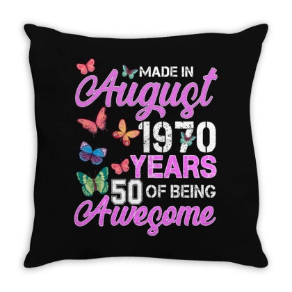 Made In August 1970 Ears 50 Of Being Awesome For Dark Throw Pillow Designed By Sengul