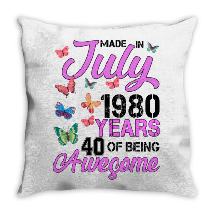 Made In July 1980 Years 40 Of Being Awesome For Light Throw Pillow Designed By Sengul