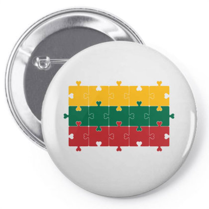 Flag Of Lithuania Pin-back Button Designed By Alamy