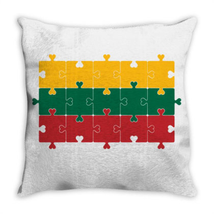Flag Of Lithuania Throw Pillow Designed By Alamy
