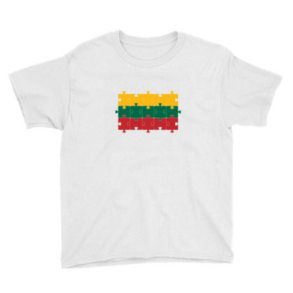 Flag Of Lithuania Youth Tee Designed By Alamy