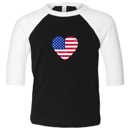 American Flag . Grunge American Flag Toddler 3/4 Sleeve Tee Designed By Alamy