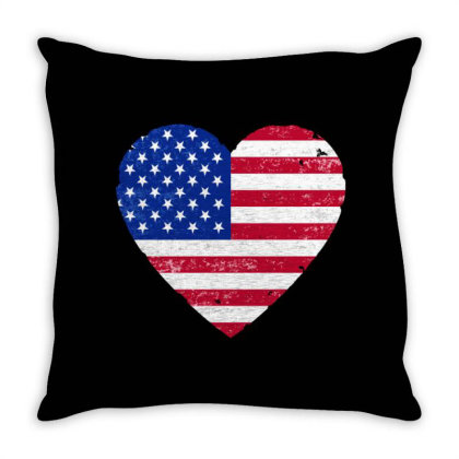 American Flag . Grunge American Flag Throw Pillow Designed By Alamy