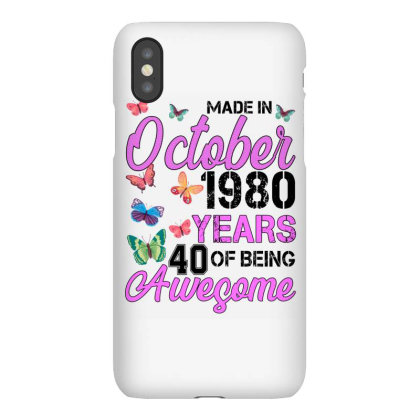 Made In October 1980 Years 40 Of Being Awesome For Light Iphonex Case Designed By Sengul