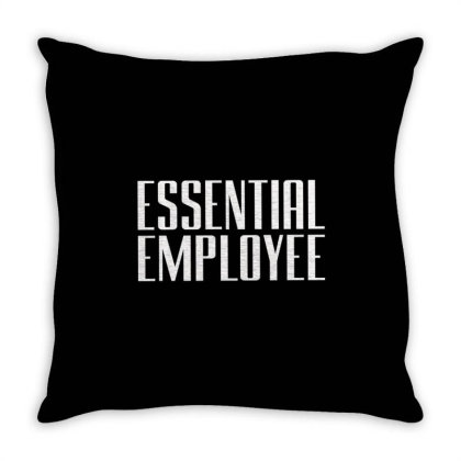 Essential  Emloyee Throw Pillow Designed By Dhigraphictees