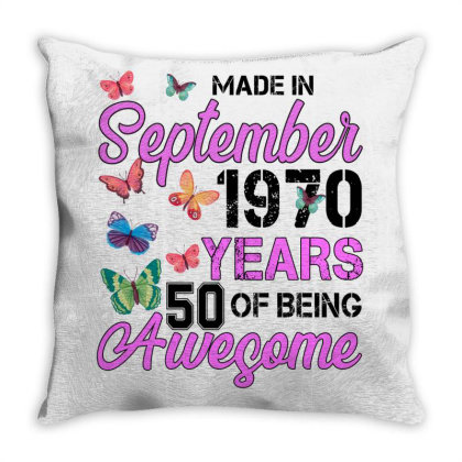 Made In September 1970 Ears 50 Of Being Awesome For Light Throw Pillow Designed By Sengul