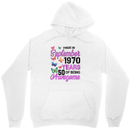Made In September 1970 Ears 50 Of Being Awesome For Light Unisex Hoodie Designed By Sengul