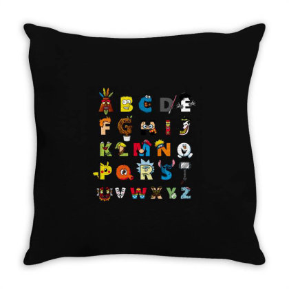 Abc Nerd Throw Pillow Designed By Cuser3244