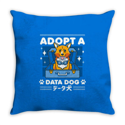 Adopt A Data Dog Throw Pillow Designed By Cuser3244