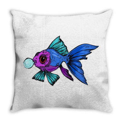 Cute Fish Throw Pillow Designed By Mysticalbrain