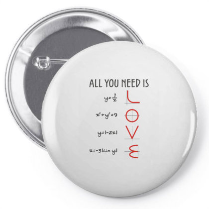 All You Need Is Love Equations Pin-back Button Designed By Cuser3244