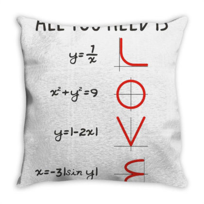 All You Need Is Love Equations Throw Pillow Designed By Cuser3244