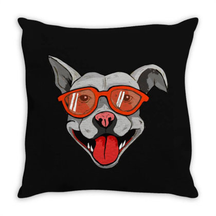 Grey Big Dog Throw Pillow Designed By Mysticalbrain