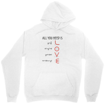 All You Need Is Love Equations Unisex Hoodie Designed By Cuser3244
